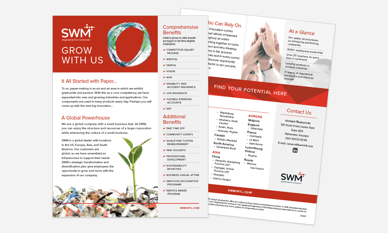 SWM Employee Recruitment Collateral: Flier