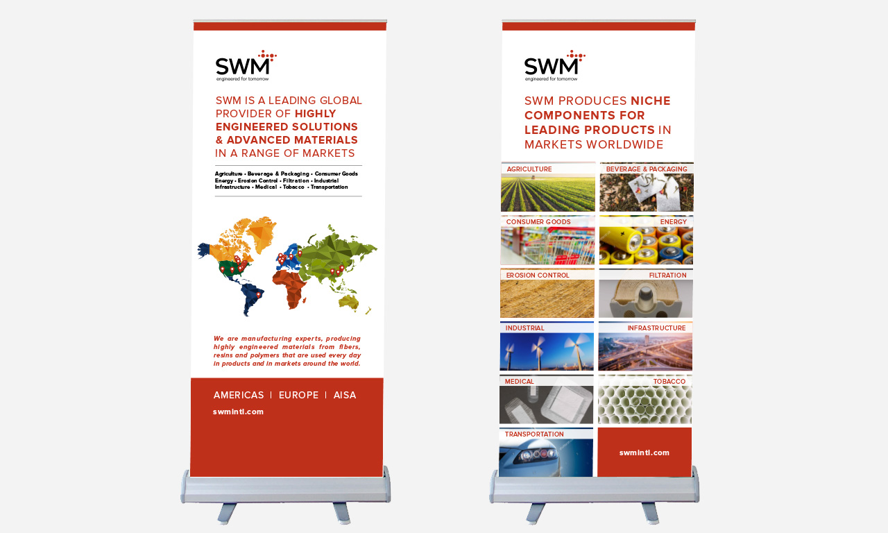 SWM Employee Recruitment Collateral: Pull-up banners